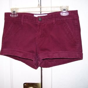 Abercrombie & Fitch New York Burgundy Shorts 4